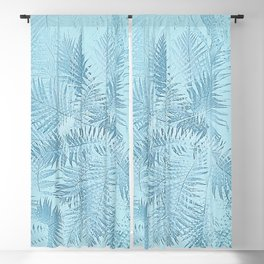 Abstract Tropical leaves Blackout Curtain