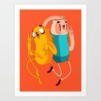 finn and jake Art Prints featuring Finn & Jake by Daniel Mackey