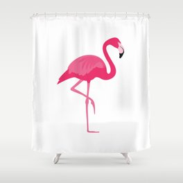 Flamingo time Shower Curtain