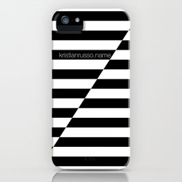 Black and White oblique iPhone Case