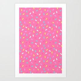 Do-Nut Confetti Sprinkles Pink Art Print