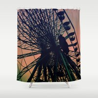 vienna Shower Curtains featuring Big wheel [Vienna] by Mi Nu Ra
