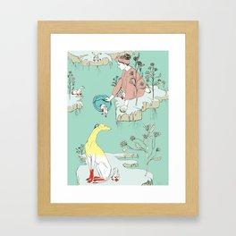 Red Handed Framed Art Print