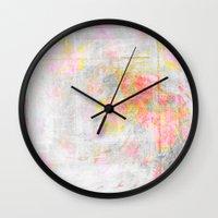 watercolour Wall Clocks featuring Watercolour by CatDesignz