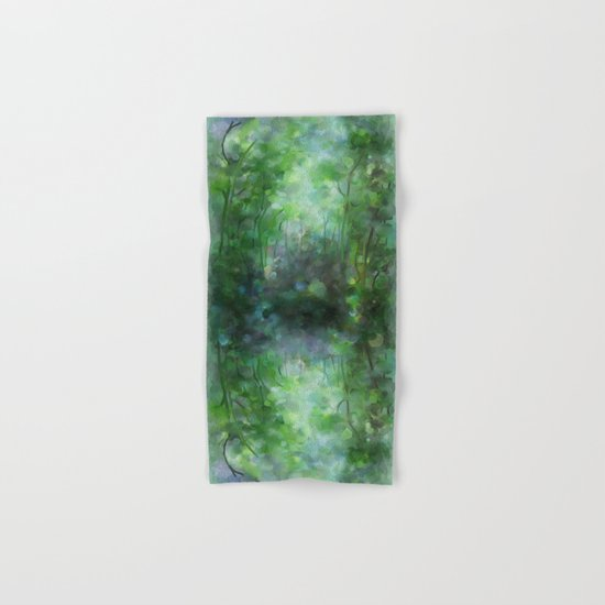Watercolor forest Hand & Bath Towel