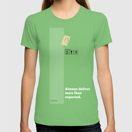 Lab No. 4 - Always Deliver More Than Expected Motivational Typography Quotes Poster T-shirt