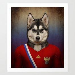 Worldcup 2014 : Russia - Seberian Husky Art Print