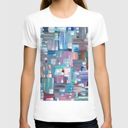 Colorful Rectangles. Acrylic Abstract Painting.  T-shirt