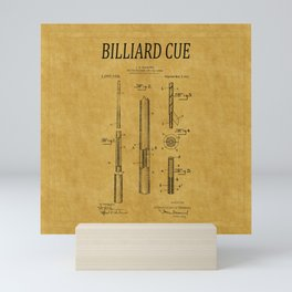 Billiard Cue Patent 1 Mini Art Print