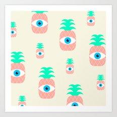 P[eye]NEAPPLES Art Print