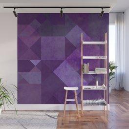 Purple Squares Wall Mural
