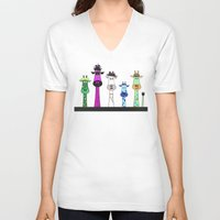 giraffes V-neck T-shirts featuring Giraffes by Jozi