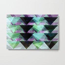 black, green & purple Metal Print