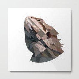 Geometric Dragon Metal Print