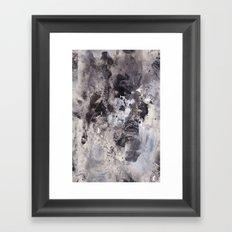 Monochrome Chaos Framed Art Print