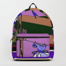 The Clothesline with Violet Sky Backpack