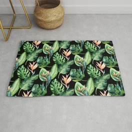 Tropical Print Pattern Rug
