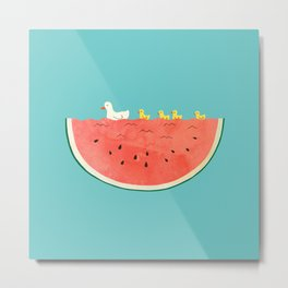 duckies and watermelon Metal Print