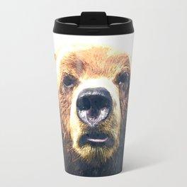 Bear portrait Travel Mug