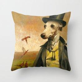 Victorian Whippet Throw Pillow