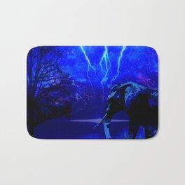 ELEPHANT LIGHTNING AND AFRICAN NIGHTS Bath Mat