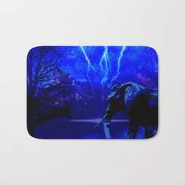 ELEPHANT LIGHTNING AND AFRICAN NIGHTS Bath Mat