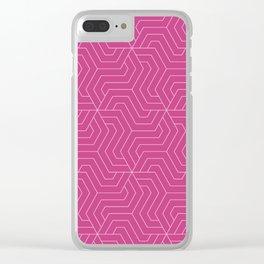 Smitten - violet - Modern Vector Seamless Pattern Clear iPhone Case