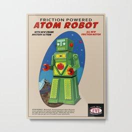 Atom The Toy Robot Metal Print