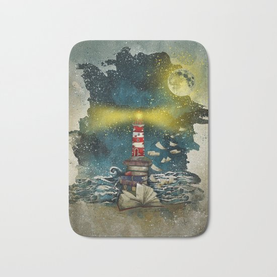 the sea is poetry Bath Mat