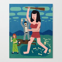Giant Woman Attack Canvas Print