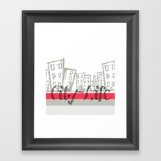 City Life {The Boring Afternoon Design Series} Framed Art Print