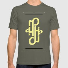 Type Foundry - Helvetica Neue Bold Italic Mens Fitted Tee Lieutenant SMALL