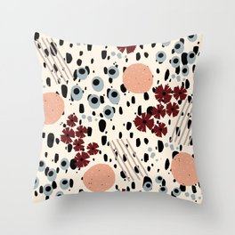 Cheetah Floral Throw Pillow