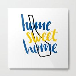 Home Sweet Home Delaware Metal Print