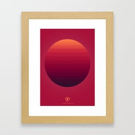 Firewatch Colour Sphere(2nd Background) Framed Art Print