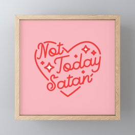 not today satan II Framed Mini Art Print