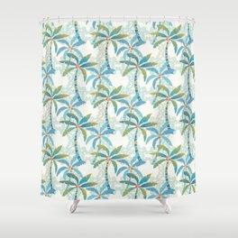 Sun Kissed Palms Shower Curtain