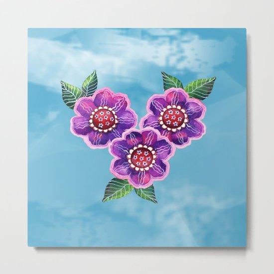 Purple Flowers II Metal Print