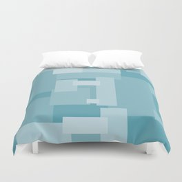Matted Shades of Blue - Color Therapy Duvet Cover