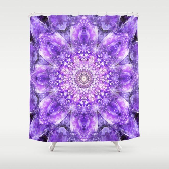 Light of Hope Mandala Shower Curtain