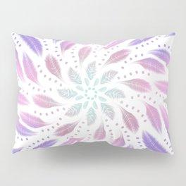 Soft Feathers Dreamcatcher - Holographic Abstract Rainbow Mandala Pillow Sham