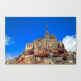 Autumn Shades of Mont Saint-Michel Canvas Print