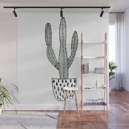Potted cactus Wall Mural