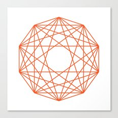 Decagon Canvas Print