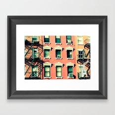 Orange Houses, New York Framed Art Print
