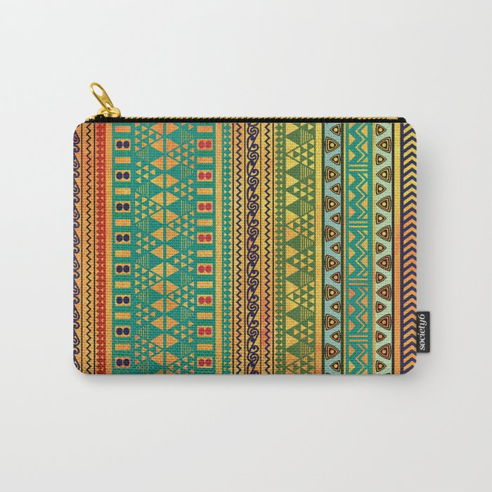 Inspired Aztec Pattern 3 Carry-All Pouch