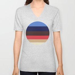 Color Harmony Geometric Pattern Unisex V-Neck