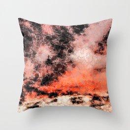Sunset Inspired Geometric Pattern Throw Pillow