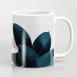 Blush & Blue Leaves Coffee Mug