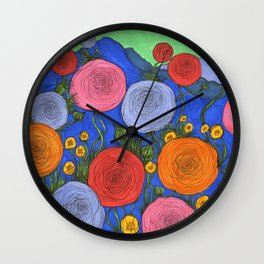 Colors in the Blue Ridge Mountains Wall Clock